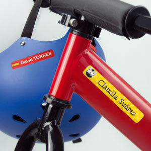 Fiets en helm Labels