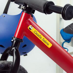 Bike name stickers for kids