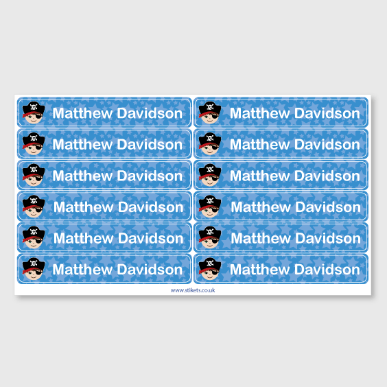 Bike name stickers for kids