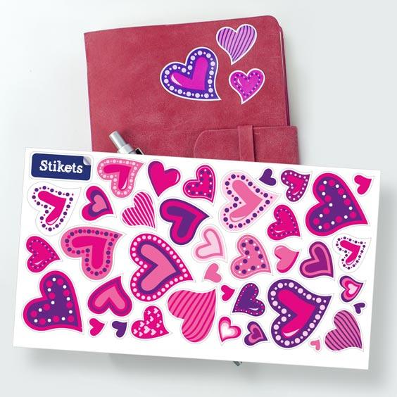 Corazones de San Valentín Stikets