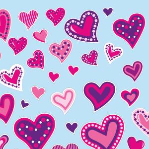 Adesivo corações