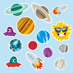 Stickers of planets