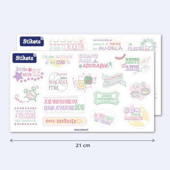 Stickers phrases