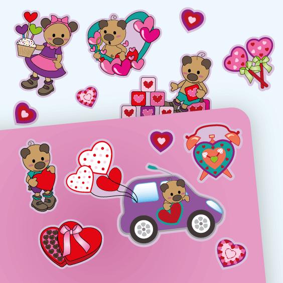 Autocolantes ursinhos amorosos