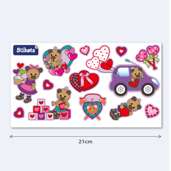 Love teddy stickers