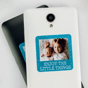 Stickers téléphone avec photo et cadre de texte (8/16 u.)