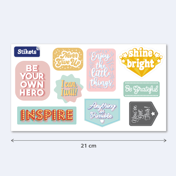 Inspirational Stickers. Model A