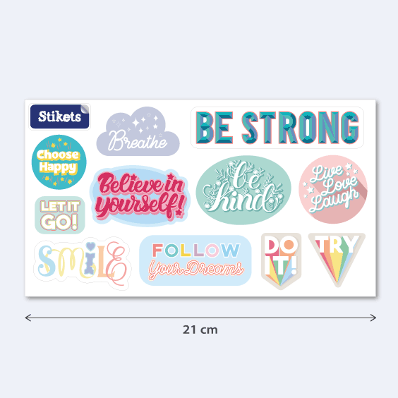 Inspirational Stickers. Model B