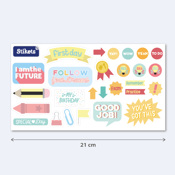 Back-To-School Stickers. Model A
