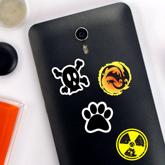 Symbol phone Stickers