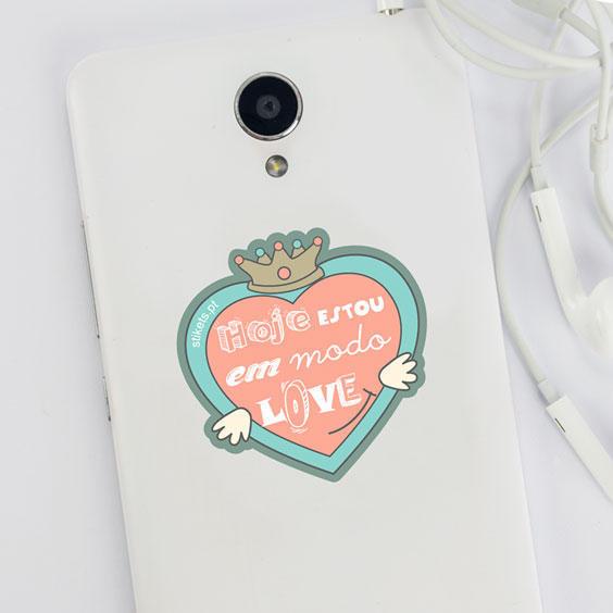 Autocolante para telemóvel LOVE