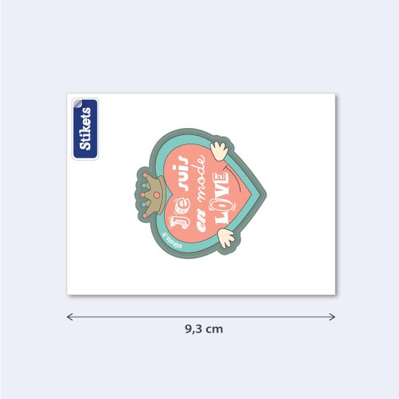 Sticker téléphone LOVE