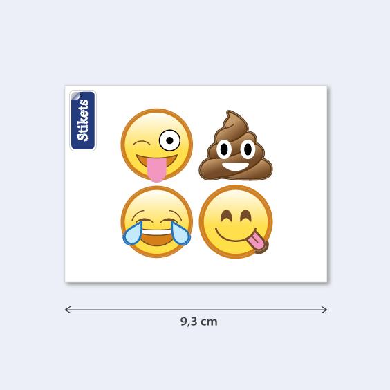 Aufkleber lustige Emojis