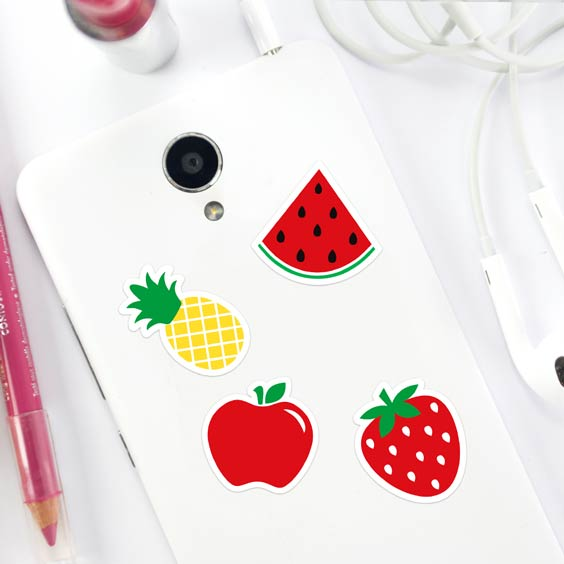 Fruit phone stickers