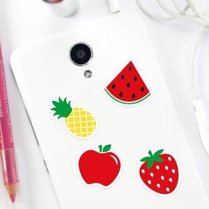 Pegatinas de frutas para móvil