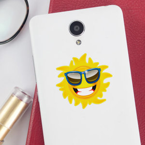Pegatina del sol para móvil