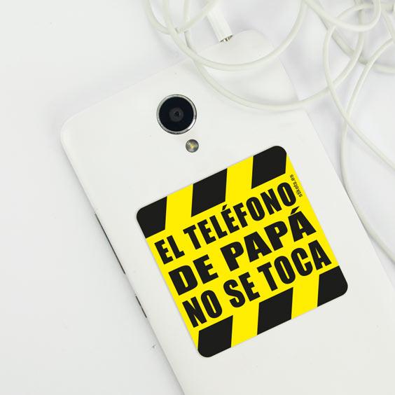 Pegatina el teléfono no se toca para el móvil de papá