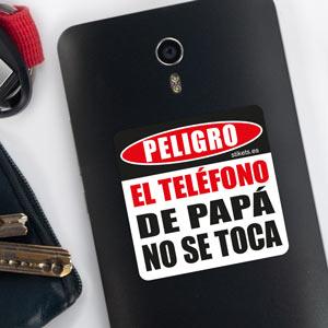Pegatina danger para el móvil de papá