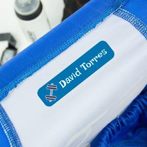 Etiquetes per a roba d'esport