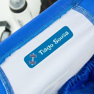 Etiquetas para roupa desportiva