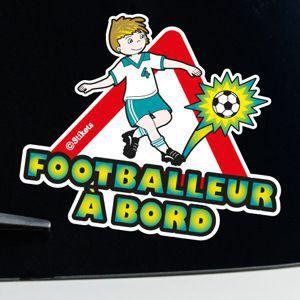 Footballeur à bord