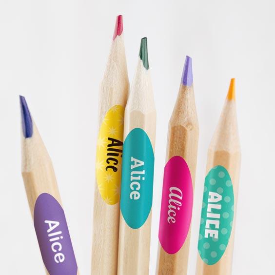 Etiquettes pour crayons et stylos