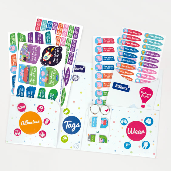 Peppa Pig Name Label Pack