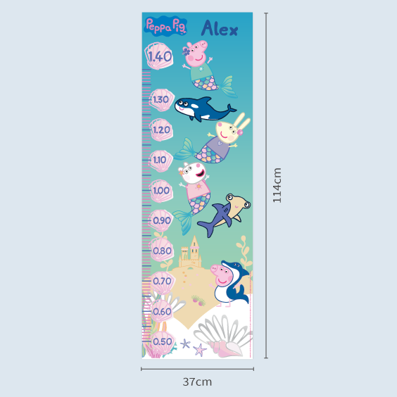 Peppa Pig Custom Growth Chart
