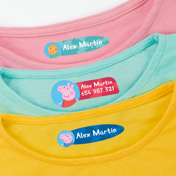 Peppa Pig Clothing Labels