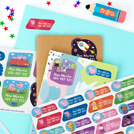 Peppa Pig Name Labels