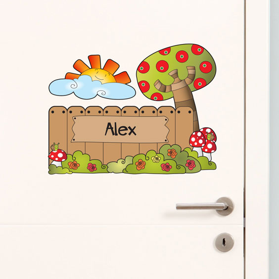 Personalised countryside wall stickers
