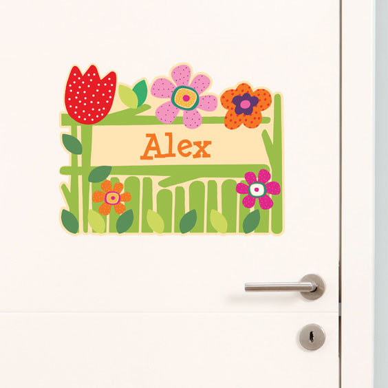 Personalised flowers wall stickers