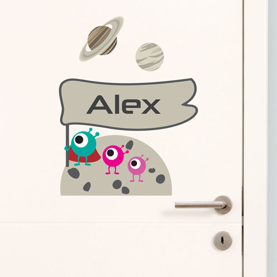 Personalised planets wall stickers