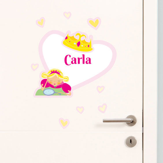 Gepersonaliseerde Prinses Muurstickers