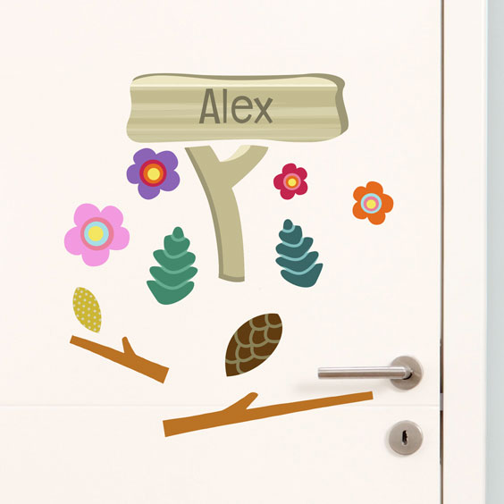 Personalised forest wall stickers