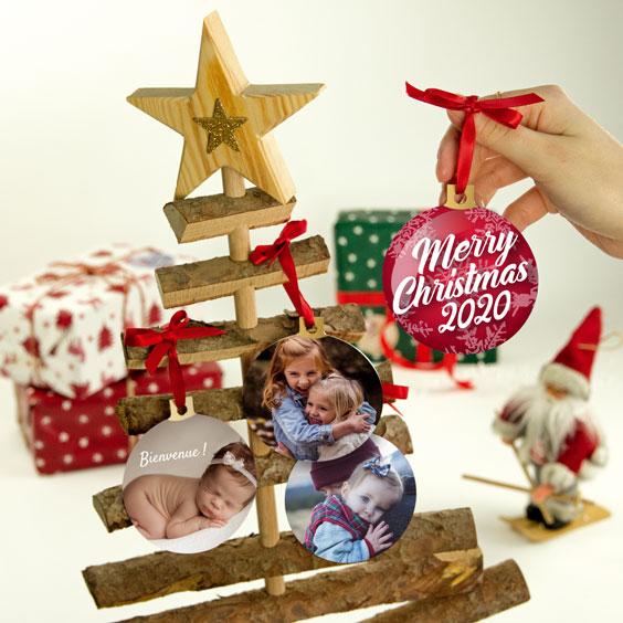 Boules de Noël personnalisées avec votre design