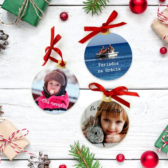 Bolas de Natal personalizadas com o teu desenho