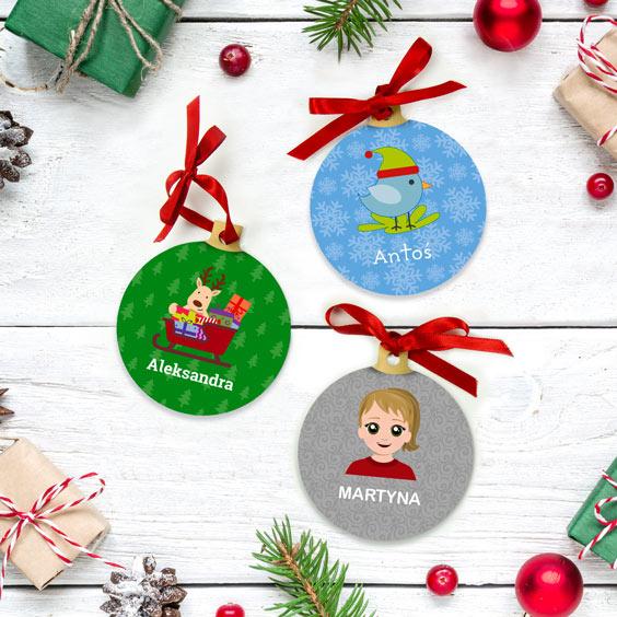Personalizowana dekoracja śwąteczna z obrazkiem