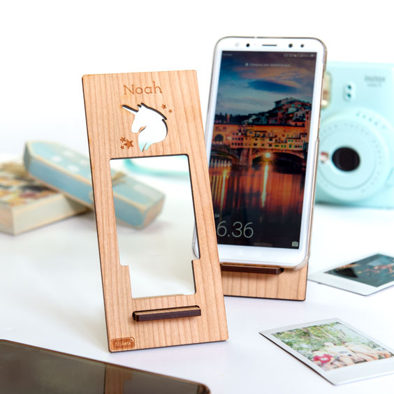Wooden Personalized Mobile Stand