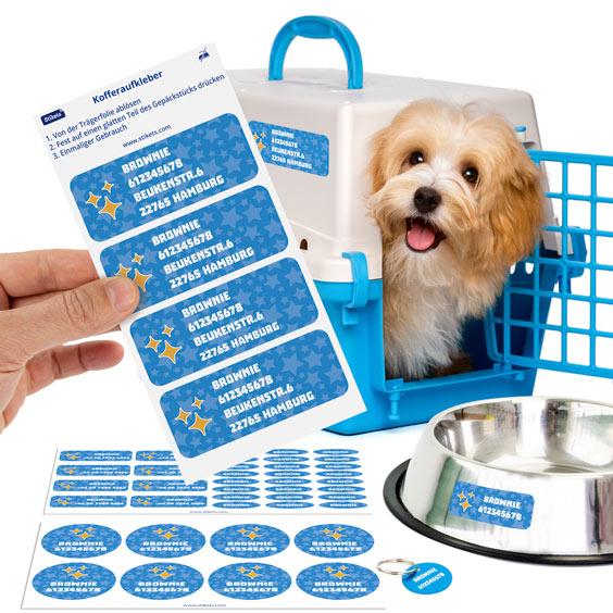 Personalisierter Pack für Haustiere