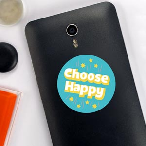 Adesivo Choose Happy