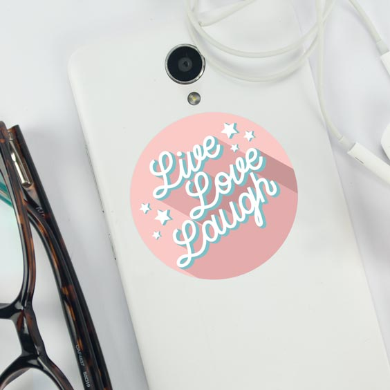 Live, Love, Laugh Sticker