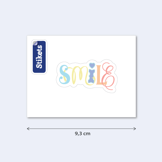 Adesivo Smile para celular