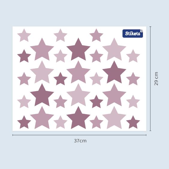 Vinilo de estrellas morado