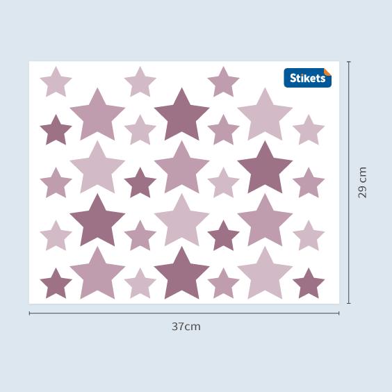 Vinil de estrelas roxas