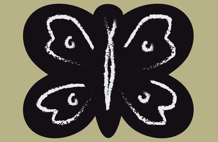 Sticker Ardoise Papillon