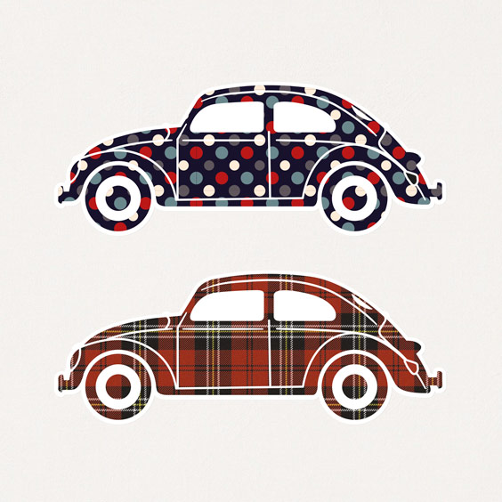 Stickers Voiture VW Coccinelle 2