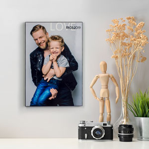 Custom Wood Hanging Photo Panel