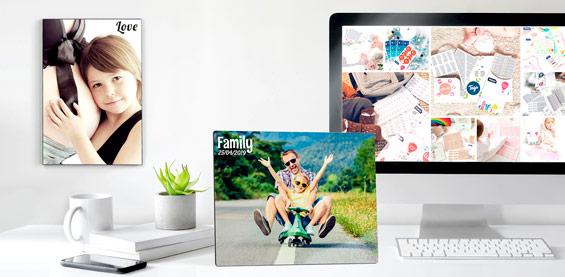 Molduras para fotos personalizadas