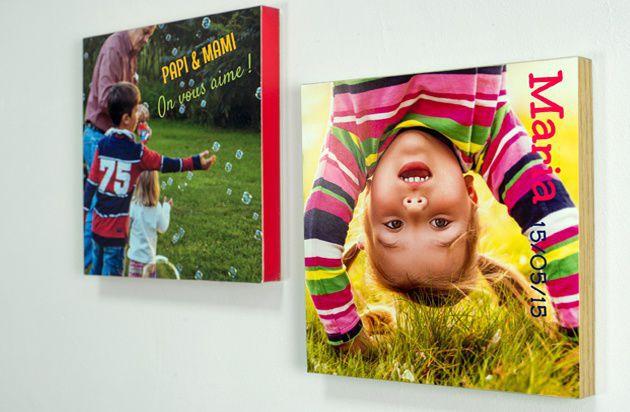 Tableaux photo personnalisés 20 x 20 cm